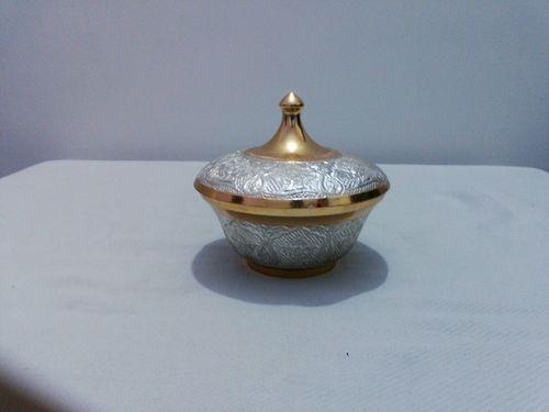Brass Enamel Sugar Bowl