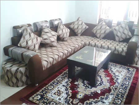 L Shape Bolister Handle Corner Sofa Set