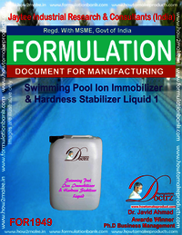 Swimming Pool Ion immobilizer, Hardness stabilizer agent 1