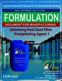 Swimming Pool sand filter precipitating agent 1
