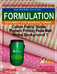 Cotton Fabric Textile Pigment Printing Paste Matt Weiss Background 1