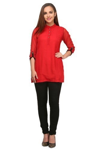 Ladies Red Color Tops and Tunics