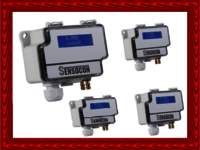 Sensocon USA Differential Pressure Transmitter Series DPT10-R8  - Range  -5.0 - 5.0 inWC
