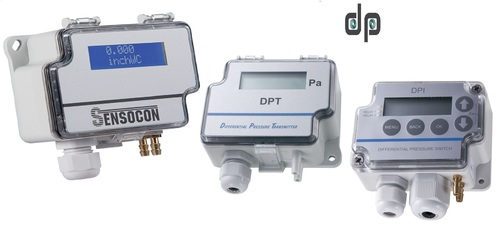 Sensocon USA Differential Pressure Transmitter Series DPT1-R8 - Range  0 - 62 Pa
