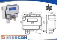 Sensocon USA Differential Pressure Transmitter Series DPT1-R8 - Range  0 - 250 Pa