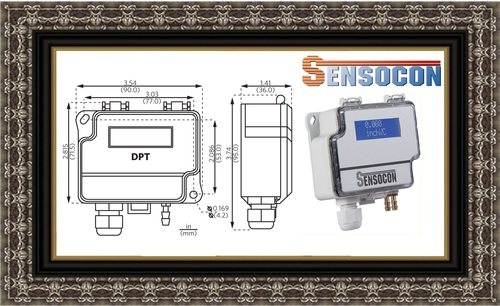 Sensocon USA Differential Pressure Transmitter Series DPT1-R8 - Range  0 - 0.25  mbar