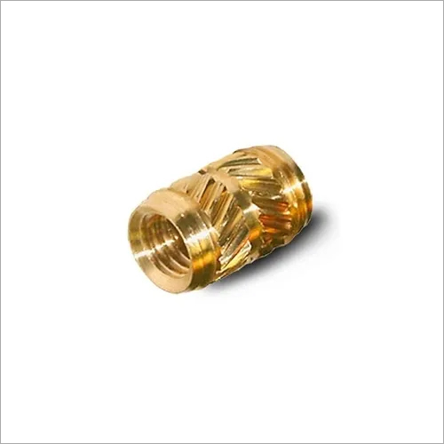Brass Cross Threaded Inserts for Plastic Injection
