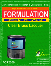 Clear Brass Lacquer Formulation