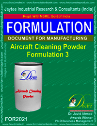 Aircraft Cleaning Powder Formulation 3
