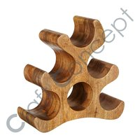 Flame Wooden Wine Rack