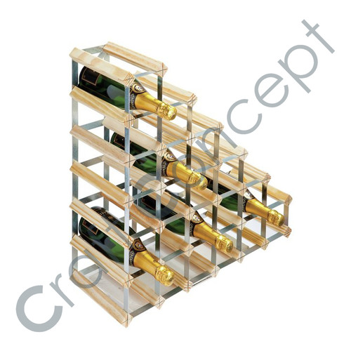 Step Type Wooden Wine Rack