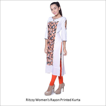 Womens Cotton Printed Kurta