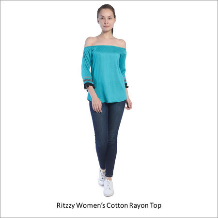 Womens Cotton Rayon Top