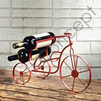 Red Cycle Type Wine Stand