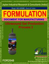 Ultrasound Gel Production Formulation 3