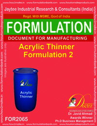 Acrylic Thinner Formulation 2