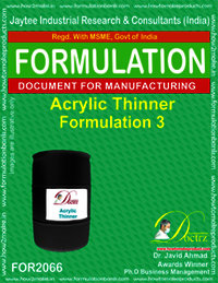 Acrylic Thinner Formulation 3