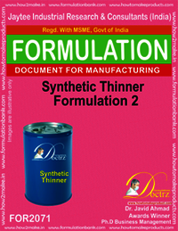 Synthetic Thinner Formulation 2