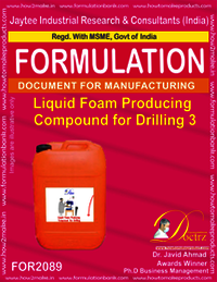 Liquid Foam Producing Compound for Drilling 3