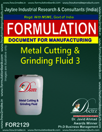 Metal Cutting and Griding Fluid chemicals Fomula -3