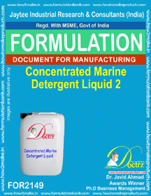 Industrial Use Detergent Product Formulations