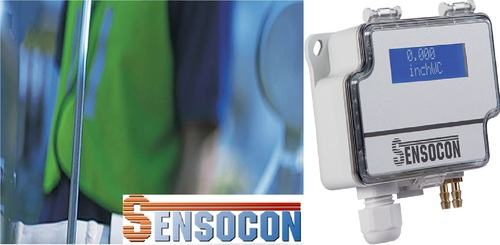 Sensocon USA Differential Pressure Transmitter Series DPT10-R8  - Range  -2.5 - 2.5 inWC