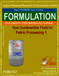 Non-Combustive liquid compound for Fbric Processing 1