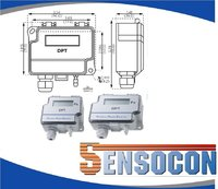 Sensocon USA Differential Pressure Transmitter Series DPT10-R8 - Range 0 - 2.5 inWC