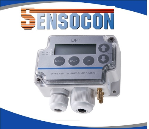 Sensocon USA Differential Pressure Transmitter Series DPT10-R8 - Range 0 - 10.0 inWC