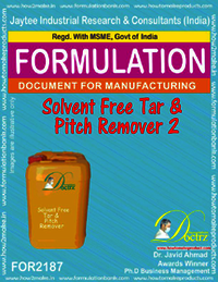 Solvent free Tar and pitch remover Formula -2