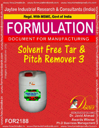 Solvent free Tar and pitch remover Formula -3