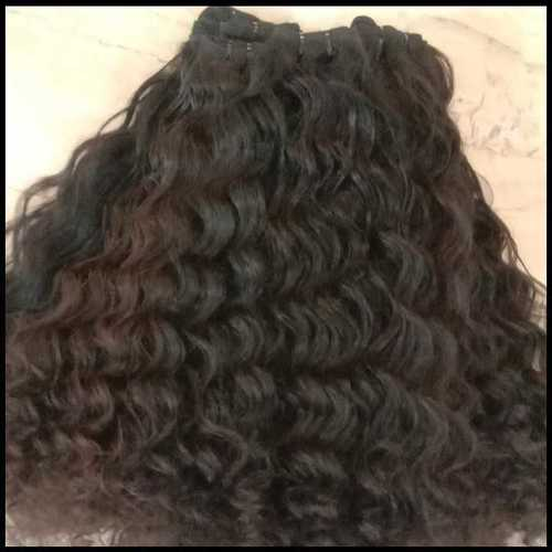 Remy curly weft hair
