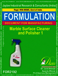 Marble Surface Cleaner and Polisher Formulation 1