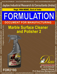Marble Surface Cleaner and Polisher Formulation 2