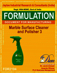 Marble Surface Cleaner and Polisher Formulation 3