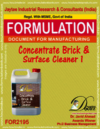 Concentrated formula for Brick and surface cleaning1
