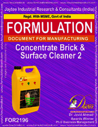 Concentrated formula for Brick and surface cleaning2