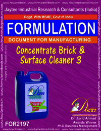 Concentrated formula for Brick and surface cleaning3