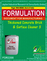 Thickened Brick and surface cleaning formula 3