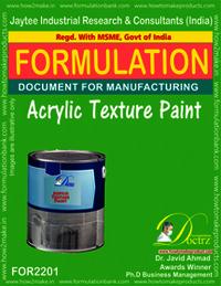 Acrylic Texture Paint formulation