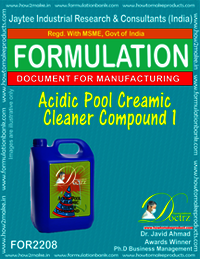 Acidic pool Ceramics Cleaning Compound Formula 1