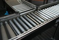 Gravity Roller Conveyor with Rubber Rollers