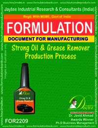 Strong oil and Grease Remover Production process