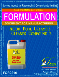 Acidic Pool Ceramics cleaning compound 1