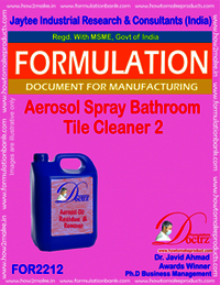 Aerosol Acidic Bathroom Spray Tile Cleaner 2