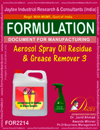 Aerosol Spray Oil Residue and Grease Remover 3
