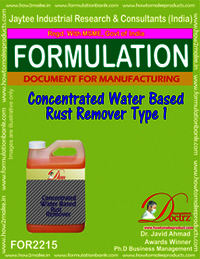 Concentrated Water Base Rust Remover 1 formula