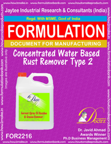 Rust Removers & Rust Preventives Formulations