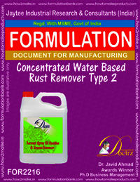 Concentrated Water Base Rust Remover II formula