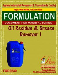 Formula of Oil Residue & Grease Remover 1